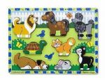 CHILDRENS CHILD MELISSA AND DOUG WOODEN PETS DOG CAT HORSE CHUNKY 8 PIECE PUZZLE